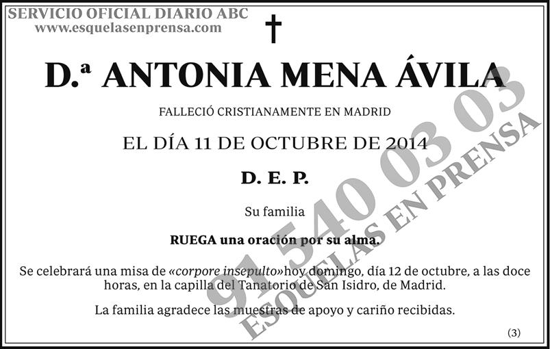 Antonia Mena Ávila